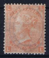 Great Britain SG 94. 4d Vermillion (Plate 9). Not Used (*) Mi Nr 42  Yv Nr 32 - 1840-1901 (Viktoria)