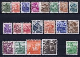Austria: Mi Nr  567 - 587 1934   MNH/**/postfrisch/neuf Sans Charniere    585 =MH/* Falz/ Charniere - 1918-1945 1st Republic