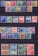Austria: Mi Nr  738 - 770   1945  MNH/**/postfrisch/neuf Sans Charniere One Brown Spot  3S Last Row - 1945-.... 2nd Republic