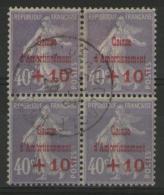N°249 Oblitéré En Bloc De 4 - France