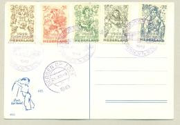 Nederland - 1949 - Kindserie Met Stempel Autopostkantoor Op Kaart (niet Verzonden) - 1949-1980 (Juliana)