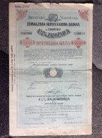 AKTIE   SHARES   STOCK   STOCKS BONDS HRVATSKO SLAVONSKO ZEMALJSKA HIPOTEKARNA BANKA 1921. 10 000  KRUNA  ZAGREB CROATIA - Bank & Insurance