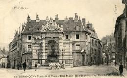 BESANCON Fontaine Et Place D'Etat Major 1914 Rue De Pontarlier - Besancon