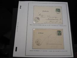 ALSACE - Env Avec Oblit De MOLSHEIM - Détaillons Belle Collection Sur Feuille De Présentation - Superbe - P 11 - P20726 - Alsace-Lorraine