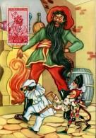 13467 Italia,  Cartoon, Card Ballerini &fratini,  Pinocchio (with Stamp Pinocchio !!) (1097/3) Il Gatto E La Volpe - Contes, Fables & Légendes