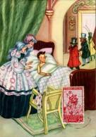 13468 Italia,  Cartoon, Card Ballerini &fratini,  Pinocchio (with Stamp Pinocchio !!) (1097/4) - Märchen, Sagen & Legenden