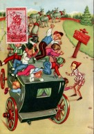 13469 Italia,  Cartoon, Card Ballerini &fratini,  Pinocchio (with Stamp Pinocchio !!) (1097/6) - Märchen, Sagen & Legenden