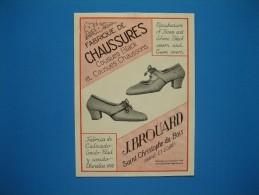 (1937) Fabrique De Chaussures : J. BROUARD à Saint-Christophe-du-Bois (Maine-et-Loire) - Vve TADDEÏ & Fils à Perpignan - Vieux Papiers