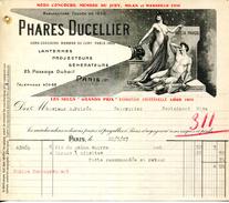 """LANTERNES.PROJECTEURS.GENERATEURS.PHARES """" DUCELLIER """" 25 PASSAGE DUBAIL.PARIS - Auto's"""