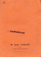 """CHEMISE NOTAIRE Jean CAILLET AISEY SUR SEINE Côte D'or Légèrement Déchirée Texte """"CONSULTEZ VOTRE NOTAIRE"""" Beaugency - Carte Assorbenti"""