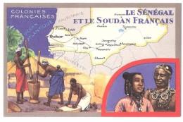 Chromo : Colonies Françaises Le Sénégal Et Le Soudan Fr - Edition Spéciale Des Produits Du Lion Noir -R. C.série 100739 - Werbepostkarten