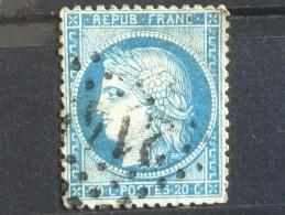 FRANCE  YT 37. Oblitéré Audenge (33) .1870. Côte 10.00 € - 1870 Besetzung Von Paris