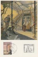 SCHUITEN. Le 9e Art Entre Dans L´Art Nouveau. CP 1989 Du CBBD Avec Timbre Et 2 Tampons : Poste Belge  Et Angoulême 2003. - Cartes Postales