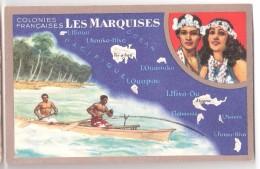 Chromo : Colonies Françaises Les Marquises - Edition Spéciale Des Produits Du Lion Noir -R. C.série 100739 - Werbepostkarten