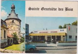 Essonne : SAINTE   GENEVIEVE  Des  BOIS  :  Restaurant   étienne  , Bar Tabac  Et Vue  Du  Donjon - Sainte Genevieve Des Bois