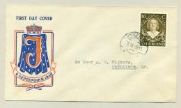 Nederland - 1948 - 10 Cent Inhuldiging Juliana Op Voorloper FDC Naar Harkstede - Periode 1891-1948 (Wilhelmina)