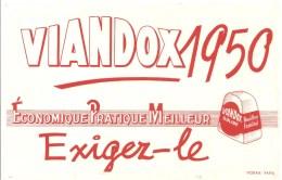 Buvard VIANDOX 1950 ECONOMIQUE PRATIQUE MEILLEUR Exigez Le - Soups & Sauces