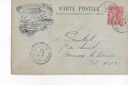 77  -  CARTE  COMMERCIALE  - Fers , Fontes , Aciers ,  Métaux  - Léon  VIARD  -  PROVINS - Provins