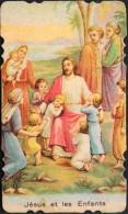 IMAGE RELIGIEUSE ANCIENNE - Jésus Et Les Enfants - Souvenir De Geneviève à Thérèse - BE - Santini