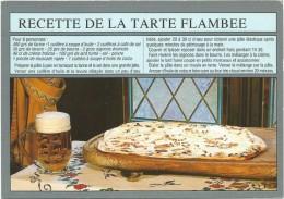 Y2115 Recette De La Tarte Flambee - Ricetta Recipe / Non Viaggiata - Ricette Di Cucina