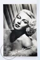 1950's Vintage Real Photo Postcard Cinema Film Actress - Lana Turner - Actores