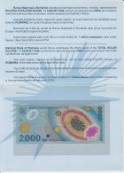 TOTAL SOLAR ECLIPSE, BANKNOTE AND BOOKLET, 1999, ROMANIA - Rumania