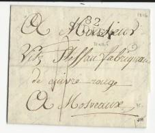 VOSGES - 1816 - LETTRE Avec MARQUE LINEAIRE De ST DIEY Pour MASSEVAUX - 1801-1848: Precursori XIX