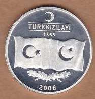 AC - PAKISTAN HUMANITARIAN OPERATIONS BY TURKISH RED CRESCENT 08 OCTOBER 2005 COMMEMORATIVE SILVER MEDAL - Royal / Of Nobility