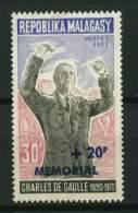 Rep. Madagascar**  N° 502 Surchargé - Mémorial Du Gal De Gaulle - Madagascar (1960-...)
