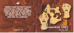 413MH CARNET CON 6 SELLOS DE LAS ISLAS FEROE DEL AÑO 2001 DE NAVIDAD- CHRISTMAS - Islas Faeroes
