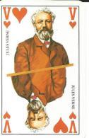 Carte Jeu -Jules Verne - écrivain, France - Le Grand Livre Du Mois - Valet De Coeur - Playing Cards (classic)