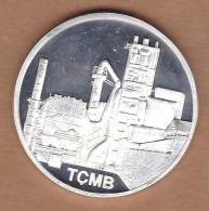 AC - 50th YEAR OF TURKISH  CEMENT MANUFACTURERS ASSOCIATION 1957 - 2007 COMMEMORATIVE SILVER MEDAL MEDALLION - Royal / Of Nobility