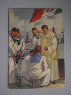 CARTOLINA MARINAI - Militari