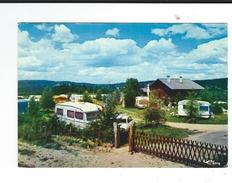 CPM  43 Le Chambon Sur Lignon Camping Caravaning Les Hirondelles Combier Circulé 1980 Caravane TBE - Le Chambon-sur-Lignon
