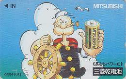 Télécarte Japon / 110-011 -  BD Comics - POPEYE & Pile Mitsubishi - Cartoon Japan Phonecard TK / Electricité - 23 - BD
