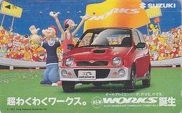Télécarte Japon / 110-011 -  BD Comics - POPEYE & OLIVE / Voiture SUZUKI Car - Cartoon Japan Phonecard TK - 25 - BD