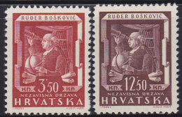 5010. Croatia NDH 1943 Astronomer Rudjer Boskovic, MNH (**) Michel 148-149 - Croatie