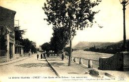 AC 524 - C P A - CREST  (26)  LES QUAIS DE LA DROME  LES MARRONIERS - Autres Communes