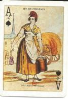 Carte Jeu Illustrée - As De Pique - Petit Métier De Paris, Marchande De Cerneaux (noix) - Femme Dans La Rue - Kartenspiele (traditionell)