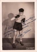 Autographe Original Signature Dédicace Sport Boxe Boxeur André FERRAD Avia Club (2 Scans) - Autografi