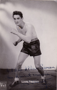 Autographe Original Signature Dédicace Sport Boxe Boxeur Louis THIERRY - Autographes