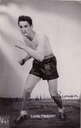 Autographe Original Signature Dédicace Sport Boxe Boxeur Louis THIERRY - Autografi
