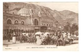 MONACO MONTÉ CARLO CAFÉ DE PARIS - BELLE ANIMATION - ÉDITIONS GILETTA N° 835 - 8/9/1918 - 2 Scans - - Monte-Carlo