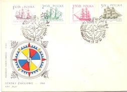 POLAND  FDC WARSZAWA 1964 SET 2 PIECES    (SET160305) - Vela
