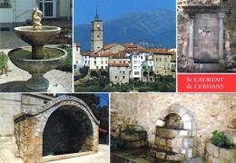 66  Saint  Laurent  De  Cerdans  Le Village Et Ses Fontaines - Francia