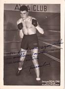 Autographe Original Signature Dédicace Sport Boxe Boxeur Jacques SCALONI Avia Club - Autografi
