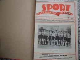 SPORT ILUSTROVANI TJEDNIK 1922,1923,1924 ZAGREB, FOOTBALL, SPORTS NEWS FROM THE KINGDOM SHS, BOUND 30 NUMBERS - Livres