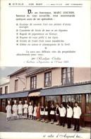 44 - BLAIN - Carte Publicitaire Restaurant Du Port - COCHIN - Mariage - Dépliants Touristiques