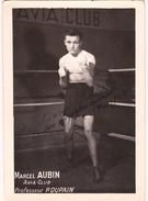 Autographe Original Signature Dédicace Sport Boxe Boxeur Marcel AUBIN Avia Club - Autografi