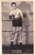 Autographe Original Signature Dédicace Sport Boxe Boxeur Freddy CONSANI Team Jean Bretonnel - Autografi